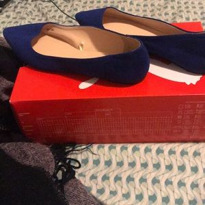 Royal blue flats
